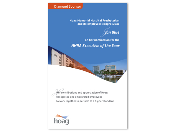 Hoag Memorial Hospital Magazine Ad : JLM Graphic Design